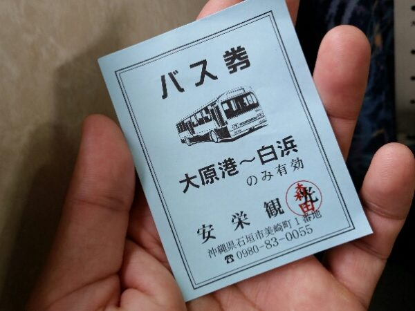 安栄観光 バス券