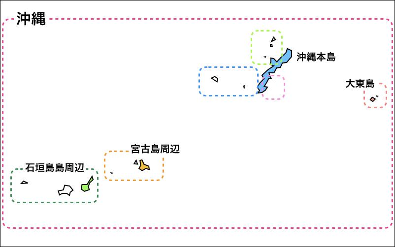 沖縄の離島の地図