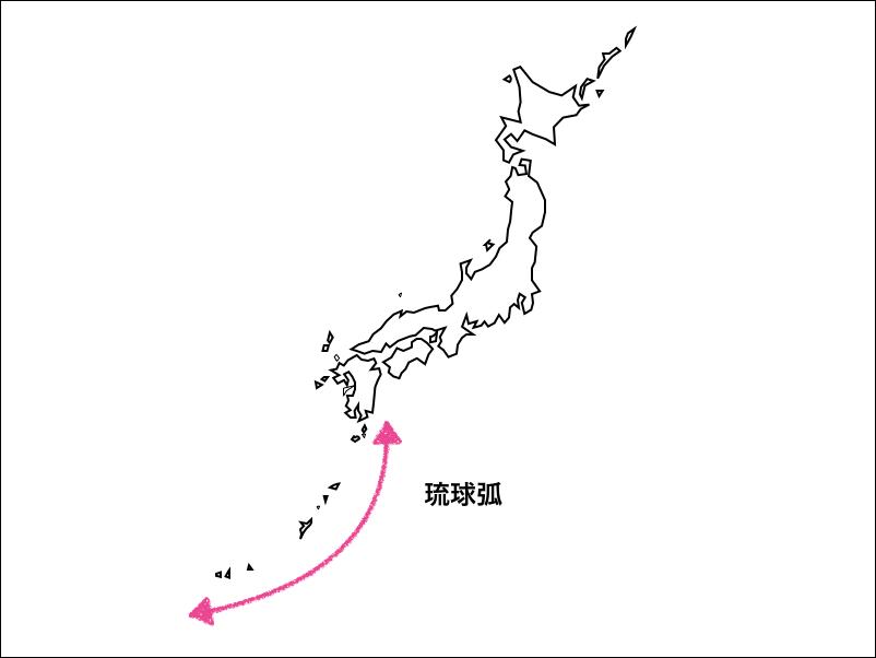 琉球弧の地図