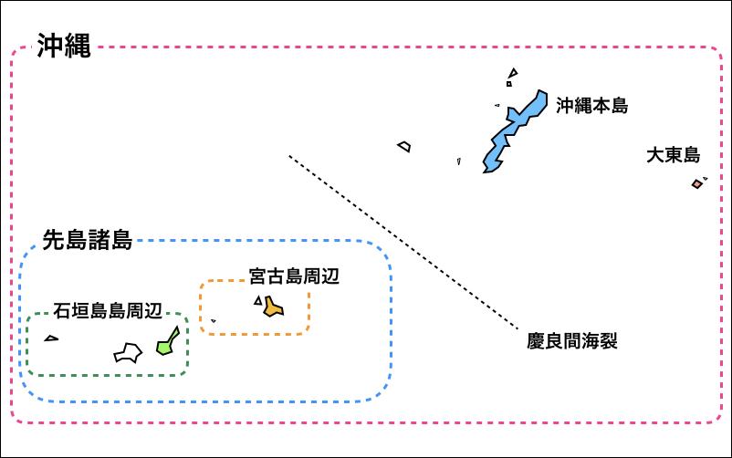 先島諸島の地図