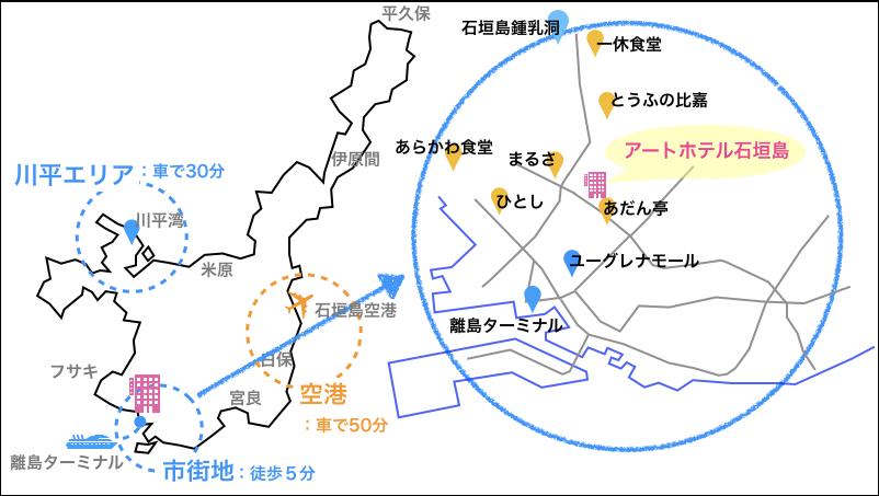アートホテル石垣島,地図