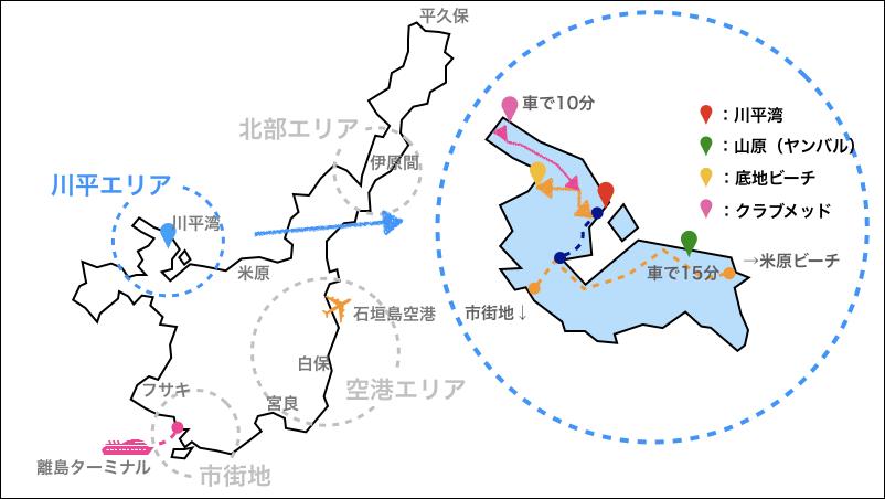 川平,地図