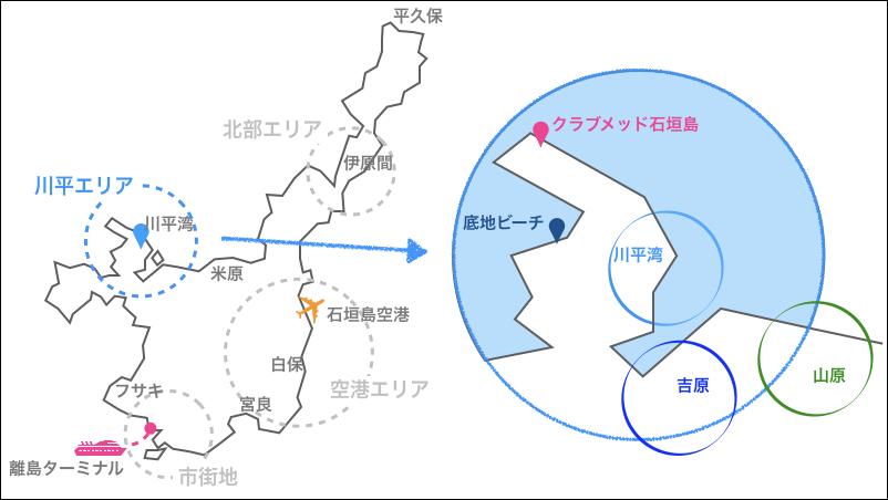 石垣島,川平,地図