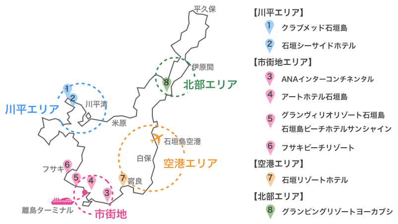 石垣島,リゾートホテル,地図