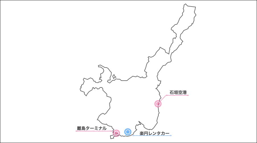 石垣島楽円レンタカー,地図
