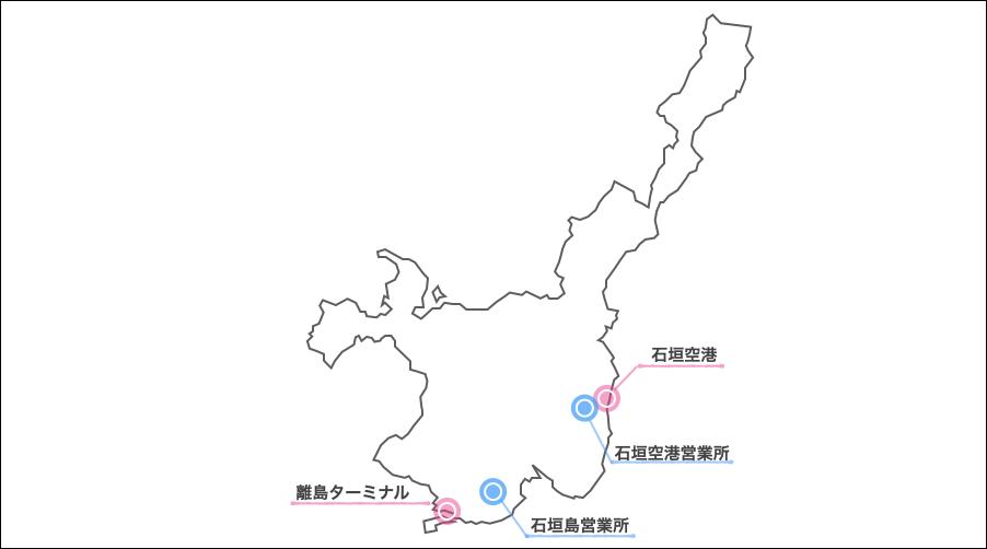 石垣島,ニッポンレンタカー ,地図