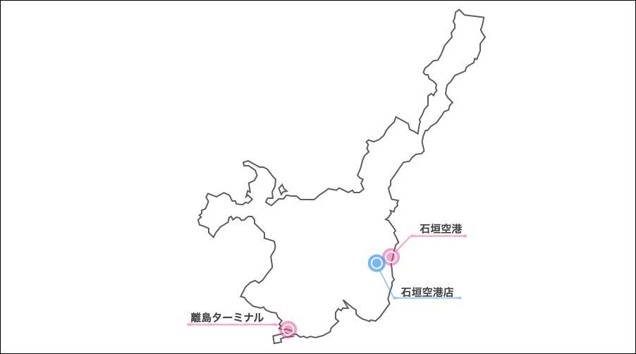石垣島,日産レンタカー,地図