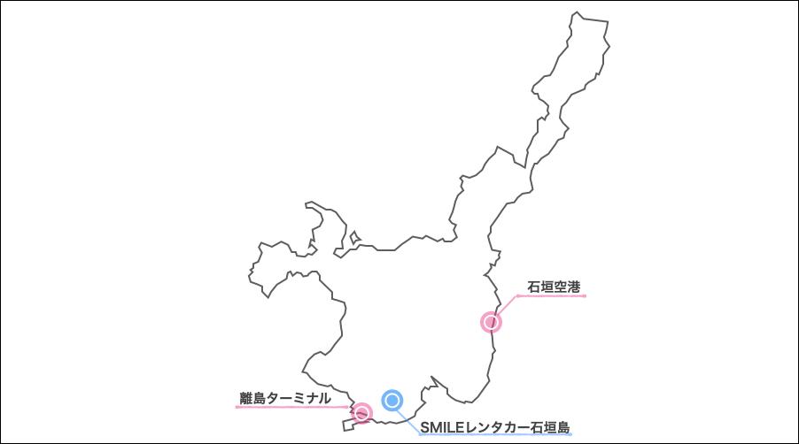 石垣島スマイルレンタカー地図