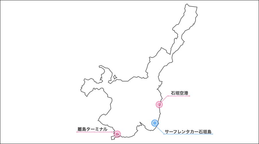 石垣島サーフレンタカー地図