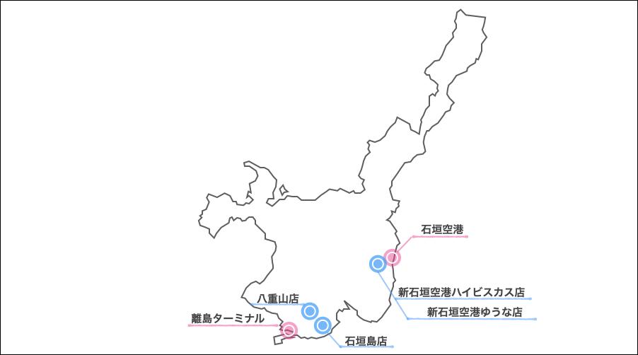 石垣島オリックスレンタカーマップ