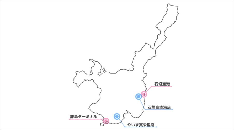 石垣島,トヨタレンタリース,地図