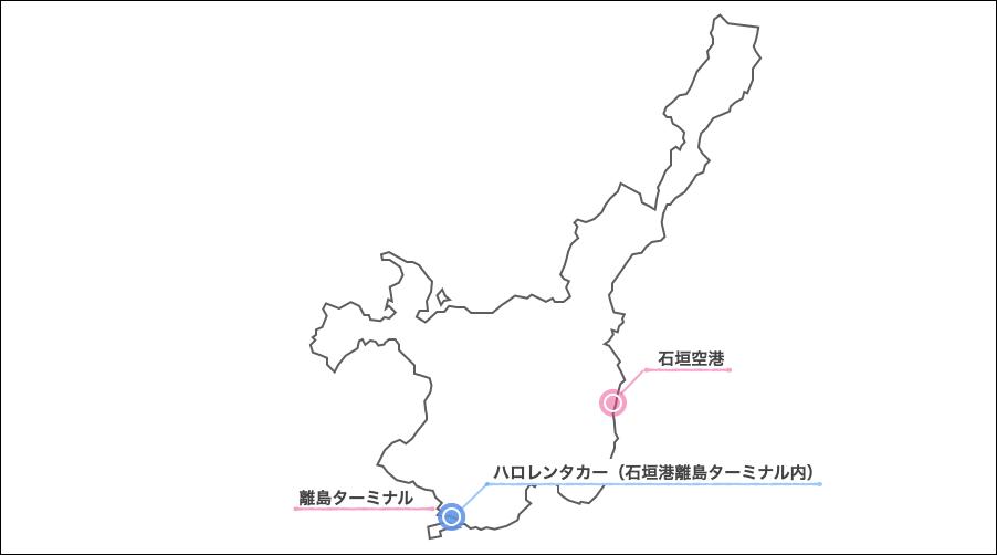 石垣島,ハロレンタカー,地図