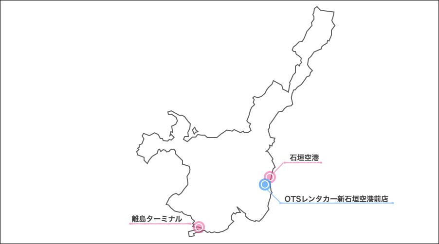 石垣島,otsレンタカー,地図