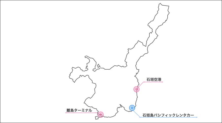 石垣島パシフィックレンタカー地図