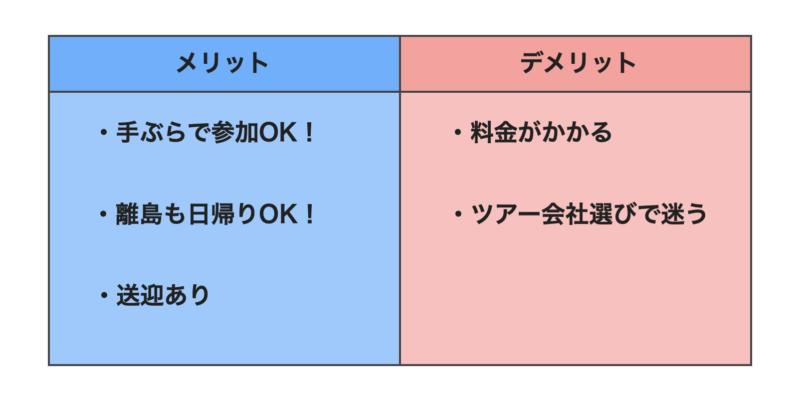 石垣島ツアーアクティビティのメリット・デメリット