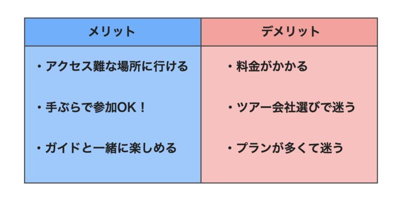 石垣島ツアー会社のメリット・デメリット