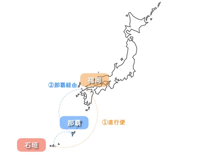 石垣島 航空券 ana 福岡 ルート