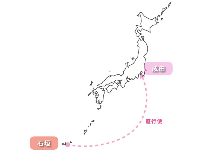 石垣島から 東京 飛行機 ピーチ