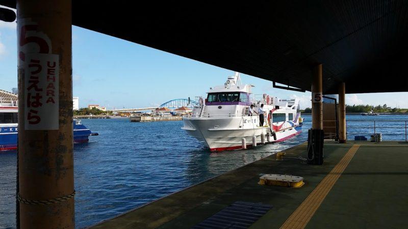 石垣島から西表島へのフェリー