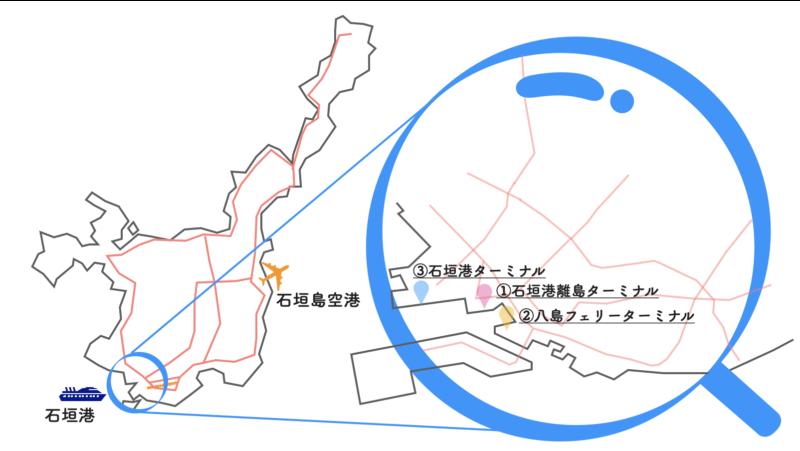 石垣島 フェリーターミナル 地図