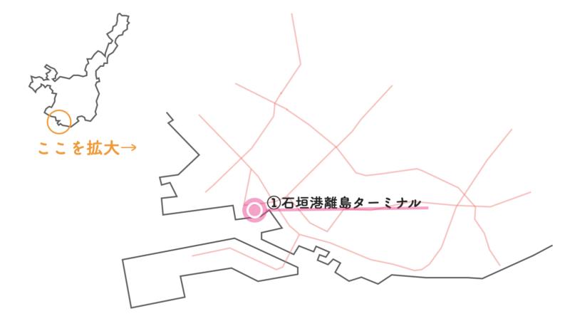 ユーグレナ石垣港離島ターミナル 地図