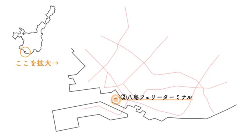 八島フェリーターミナル 地図