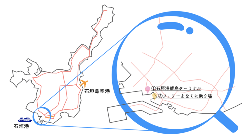 石垣島 フェリー乗り場 地図