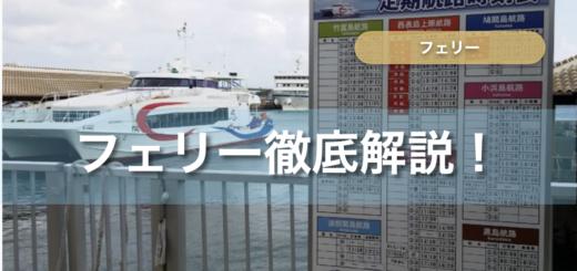 石垣島のフェリー徹底解説