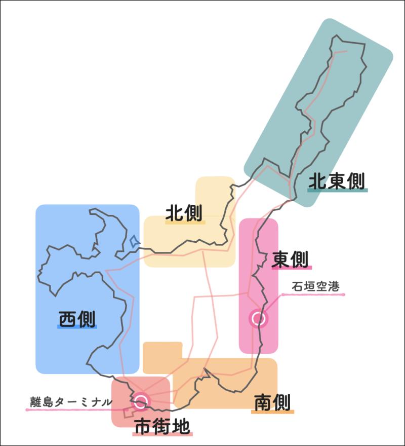 石垣島 エリアマップ