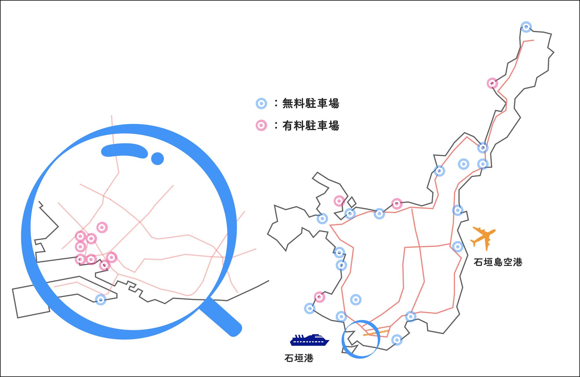 石垣島 駐車場 全体マップ