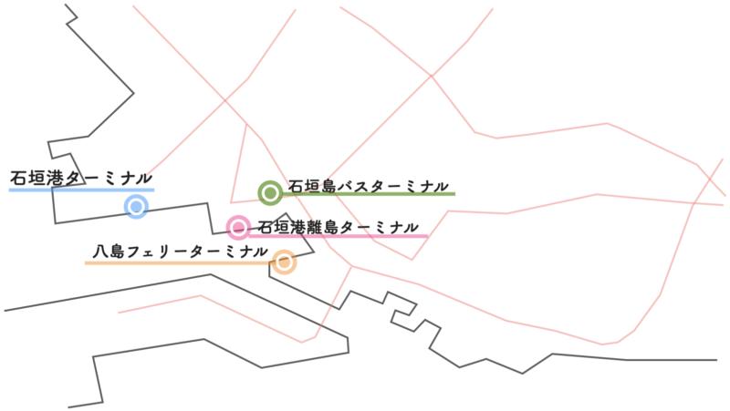石垣港 ターミナル 地図