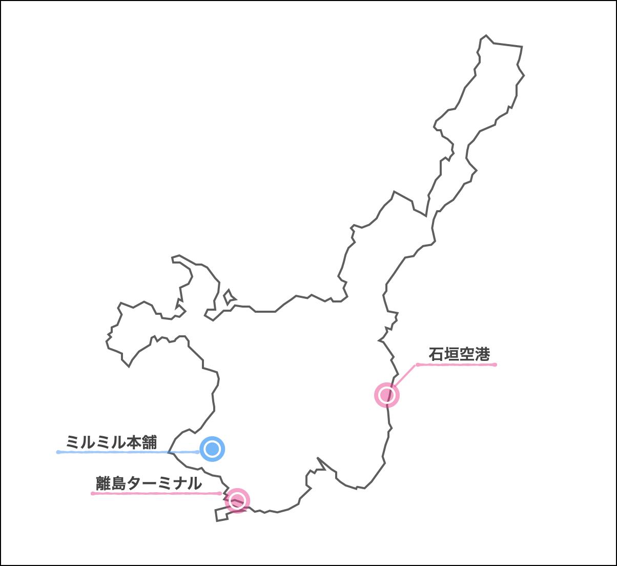 ミルミル本舗 地図